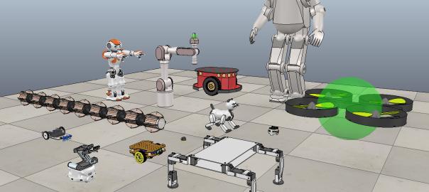 Robôs no V-REP